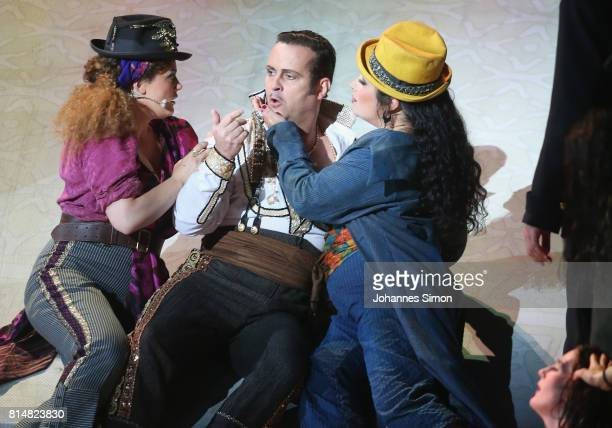 Scott Hendricks as Escamillo performs during the rehearsal of the opera 'Carmen' prior the Bregenz Festival on July 14 2017 in Bregenz Austria