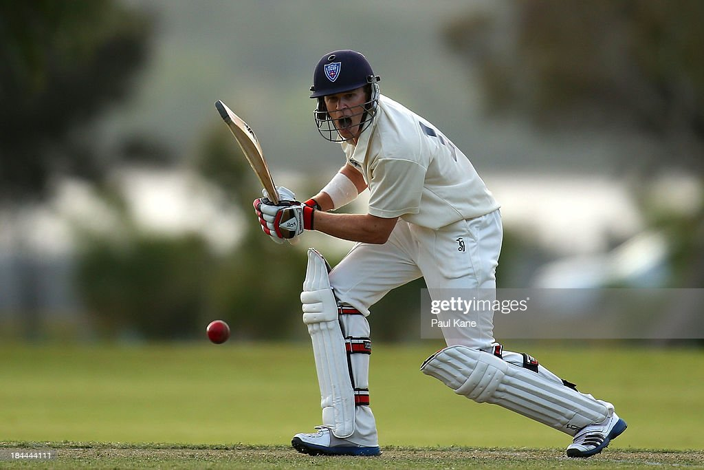 Scott Henry of New South Wales bats during day one of the Futures League match between Western Australia and New South Wales at Richardson Park on October 14, 2013 in Perth, Australia.