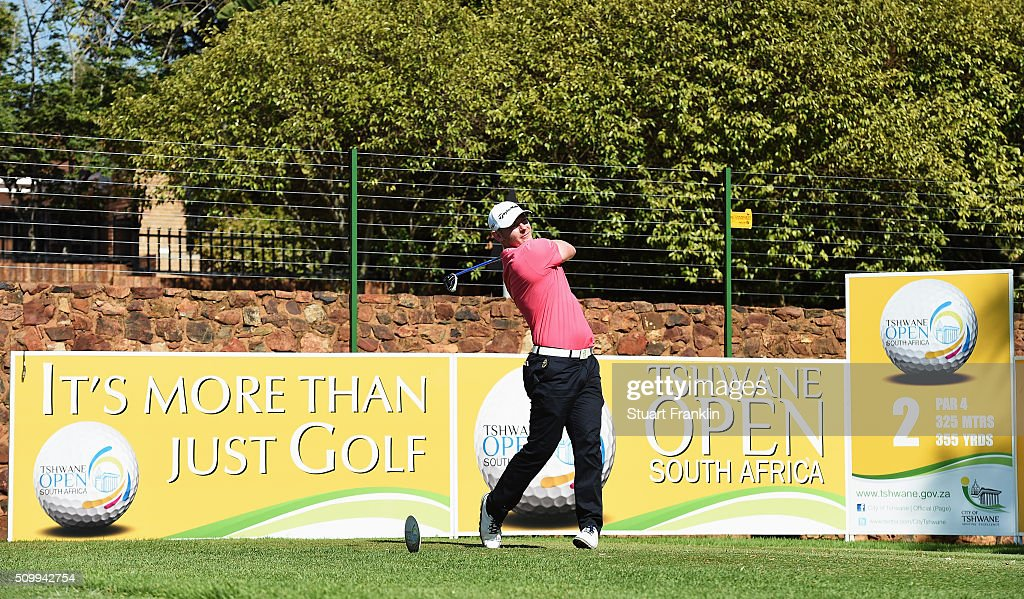 Scott Henry of Scotland plays a shot during the third round of the Tshwane Open at Pretoria Country Club on February 13, 2016 in Pretoria, South Africa.
