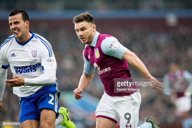 Scott Hogan of Aston Villa during the Sky Bet Championship match between Aston Villa and Ipswich Town at Villa Park on February 11 2017 in Birmingham...