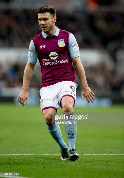 Scott Hogan of Aston Villa during the Sky Bet Championship match between Newcastle United and Aston Villa at St James' Park on February 20 2017 in...
