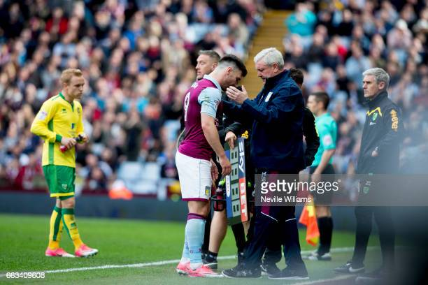 Scott Hogan of Aston Villa during the Sky Bet Championship match between Aston Villa and Norwich City at Villa Park on April 01 2017 in Birmingham...