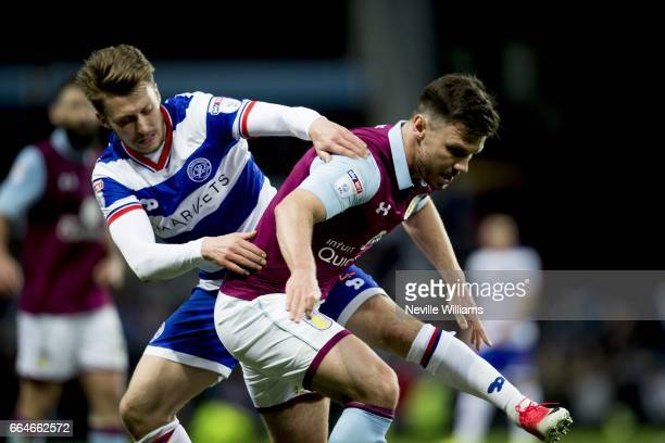 Scott Hogan of Aston Villa during the Sky Bet Championship match between Aston Villa and Queens Park Rangers at Villa Park on April 04 2017 in...