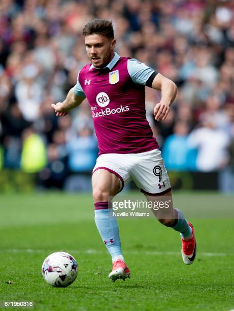 Scott Hogan of Aston Villa during the Sky Bet Championship match between Aston Villa and Birmingham City at Villa Park on April 23 2017 in Birmingham...