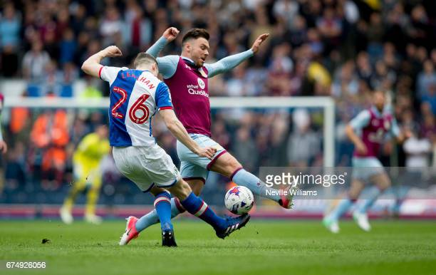 Scott Hogan of Aston Villa during the Sky Bet Championship match between Blackburn Rovers and Aston Villa at the Ewood Park on April 29 2017 in...
