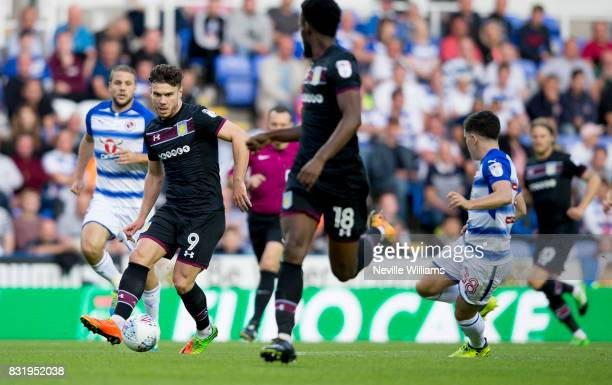 Scott Hogan of Aston Villa during the Sky Bet Championship match between Reading and Aston Villa at the Madejski Stadium on August 15 2017 in Reading...
