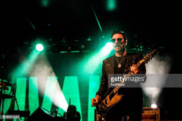 Scott Holiday of the american blues rock band Rival Sons performing live at Carroponte Milan Italy