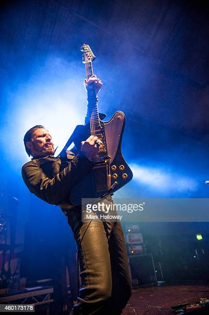 Scott Holliday of the Rival Sons performs on stage at Portsmouth Pyramids on December 8 2014 in Portsmouth United Kingdom