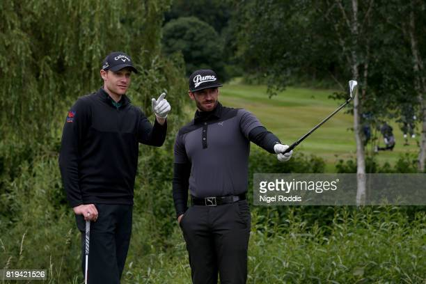 Scott Howarth of Davenport Golf Club and Jamie Howarth of Davenport Golf Club during the Golfbreakscom PGA Fourball Championship North Qualifier at...