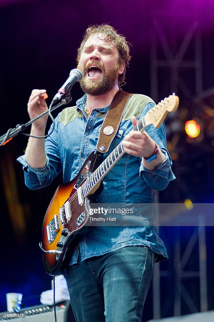 Scott Hutchison of Frightened Rabbit performs during Lollapalooza 2013 at Grant Park on August 2, 2013 in Chicago, Illinois.