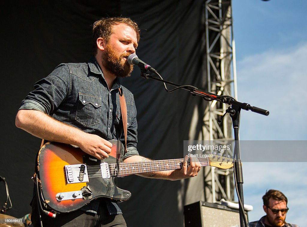 Scott Hutchison of Frightened Rabbit performs during the St Jerome's Laneway Festival at Meadow Brook Music Festival on September 14, 2013 in Rochester, Michigan.