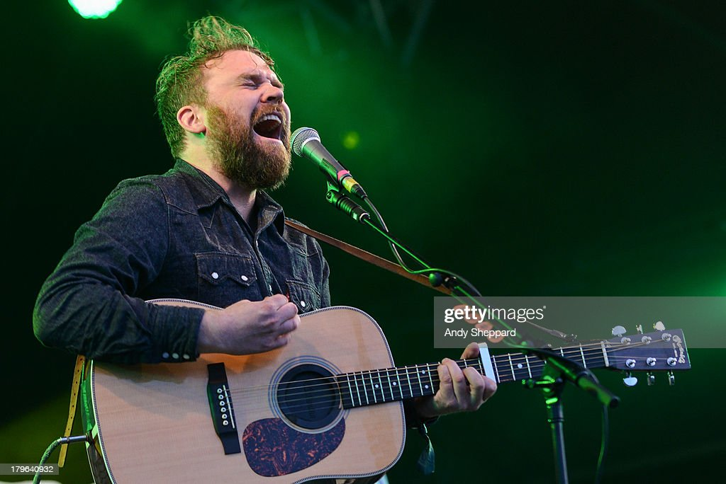 Scott Hutchison of the band Frightened Rabbit performs on stage on Day 3 of End Of The Road Festival 2013 at Larmer Tree Gardens on September 1, 2013 in Salisbury, England.