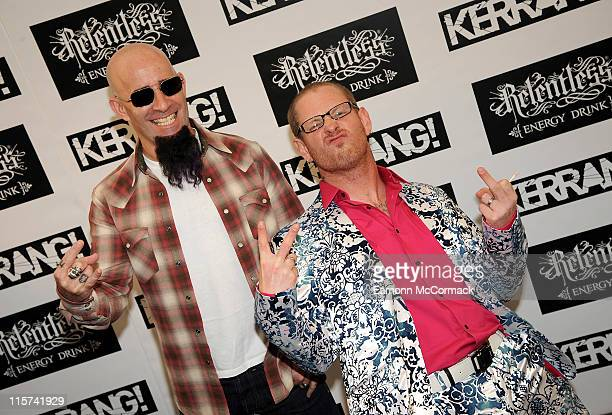 Scott Ian and Corey Taylor attend The Relentless Energy Drink Kerrang Awards at The Brewery on June 9 2011 in London England