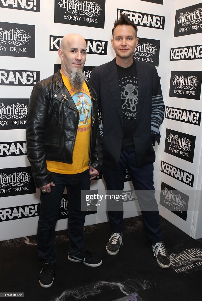 Scott Ian and Mark Hoppus of Anthrax and Blink 182 attend The Kerrang! Awards at the Troxy on June 13, 2013 in London, England.