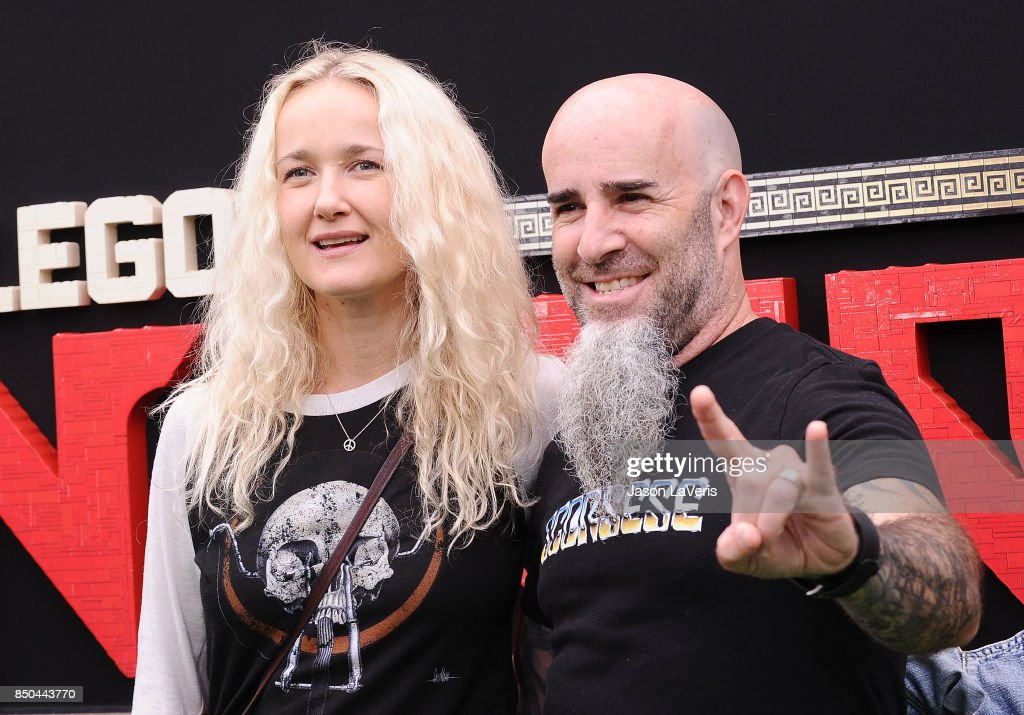 Scott Ian and Pearl Aday attend the premiere of 'The LEGO Ninjago Movie' at Regency Village Theatre on September 16, 2017 in Westwood, California.
