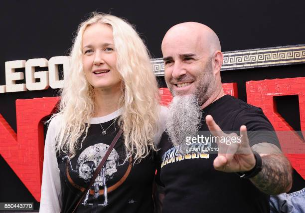 Scott Ian and Pearl Aday attend the premiere of 'The LEGO Ninjago Movie' at Regency Village Theatre on September 16 2017 in Westwood California