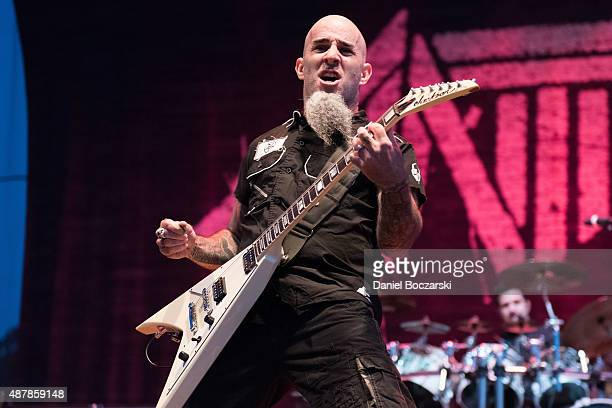 Scott Ian of Anthrax performs during Riot Fest Chicago 2015 at Douglas Park on September 11 2015 in Chicago Illinois