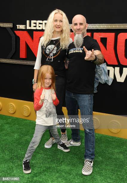 Scott Ian Pearl Aday and son Revel Ian attend the premiere of 'The LEGO Ninjago Movie' at Regency Village Theatre on September 16 2017 in Westwood...