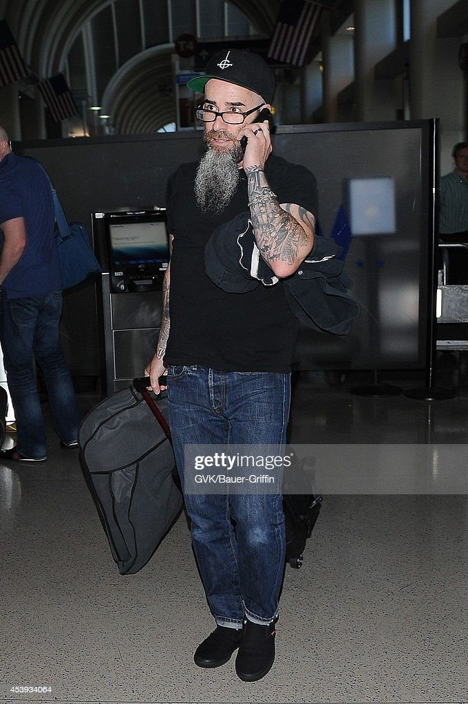 Scott Ian seen at LAX on August 21, 2014 in Los Angeles, California.