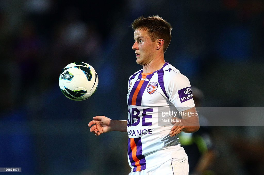 Scott Jamieson of Perth controls the ball during the round eight A-League match between Perth Glory and Wellington Phoenix at NIB Stadium on November 24, 2012 in Perth, Australia.