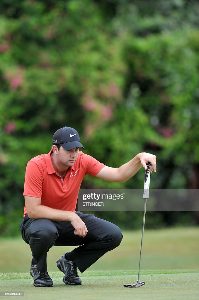 Scott Jamieson of Scotland concentrates on January 11, 2013 on the 15th hole during the second round of the The Volvo Champions in Durban.