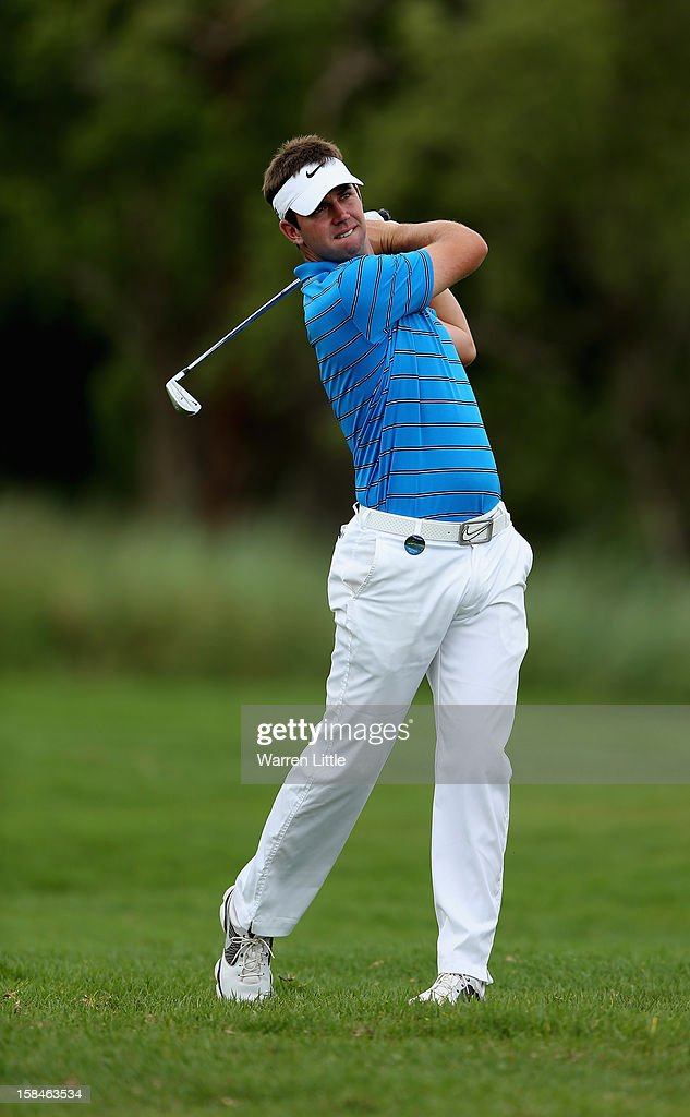 Scott Jamieson of Scotland in action during the final round of the Alfred Dunhill Championship at Leopard Creek Country Golf Club on December 16, 2012 in Malelane, South Africa.