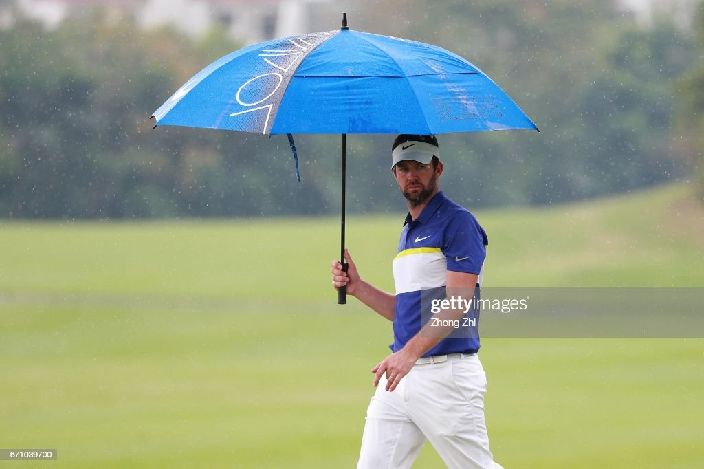 Scott Jamieson of Scotland looks on during the second round of the Shenzhen International at Genzon Golf Club on April 21, 2017 in Shenzhen, China.