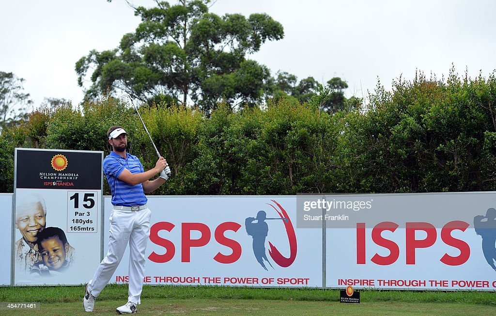 Scott Jamieson of Scotland plays a shot during the pro-am prior to the start of the Nelson Mandela Championship presented by ISPS Handa at Mount Edgecombe Country Club on December 10, 2013 in Durban, South Africa.