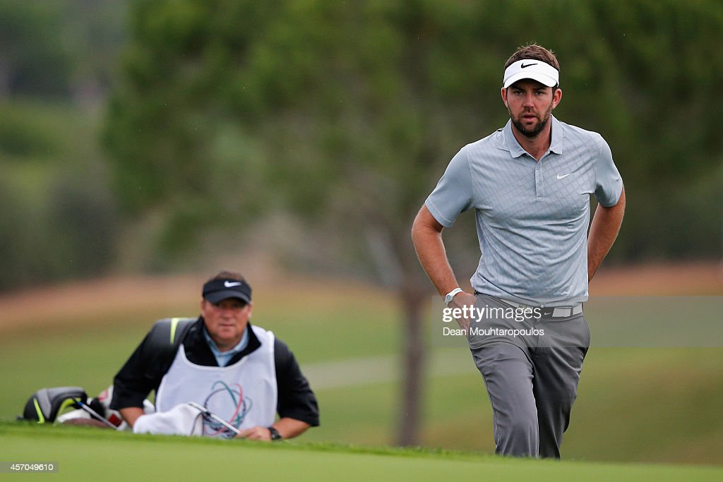 Scott Jamieson of Scotland walks onto the 7th green during Day 3 of the Portugal Masters held at the Oceanico Victoria Golf Course on October 11 2014...