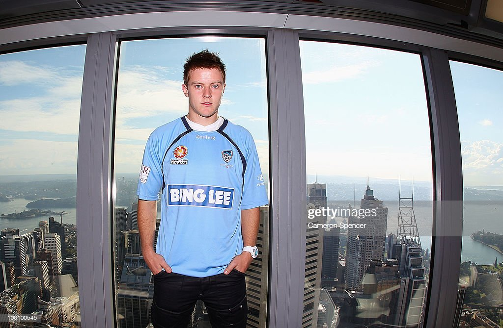 Scott Jamieson of Sydney FC poses for a portrait during a Sydney FC A-League press conference announcing his signing at Sydney Tower on May 21, 2010 in Sydney, Australia.