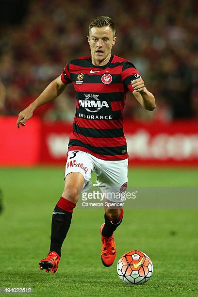 Scott Jamieson of the Wanderers dribbles the ball during the round three ALeague match between Sydney FC and Western Sydney Wanderers at Allianz...