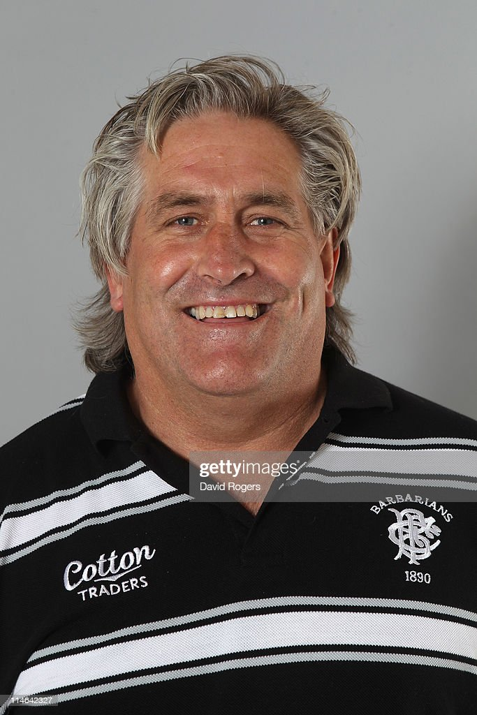 Scott Johnson, backs coach of the Barbarians poses for a portrait at Richmond Athletic Ground on May 25, 2011 in Richmond upon Thames, England.