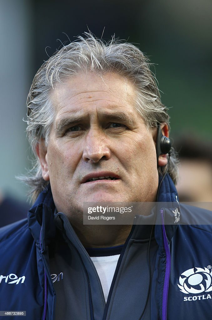 <a gi-track='captionPersonalityLinkClicked' href=/galleries/search?phrase=Scott+Johnson&family=editorial&specificpeople=586938 ng-click='$event.stopPropagation()'>Scott Johnson</a>, the Scotland head coach looks on during the RBS Six Nations match between Ireland and Scotland at the Aviva Stadium on February 2, 2014 in Dublin, Ireland.