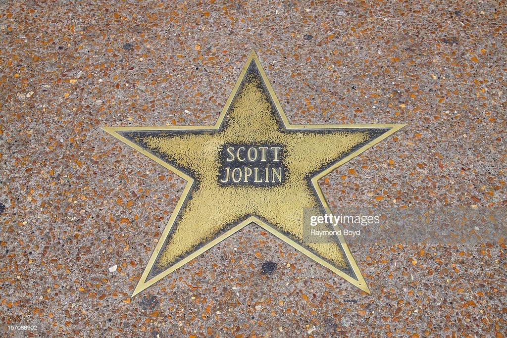 Scott Joplin star, on the St. Louis Walk Of Fame, in St. Louis, Missouri on NOVEMBER