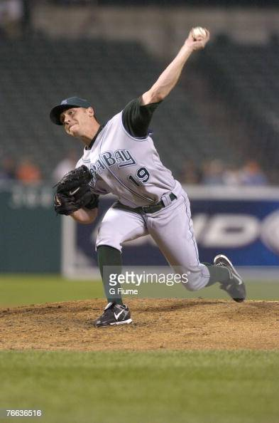 Scott Kazmir of the Tampa Bay Devil Rays pitches against the Baltimore Orioles at Camden Yards August 30 2007 in Baltimore Maryland