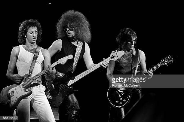 Scott Kempner Andy Shernoff and Ross Friedman of The Dictators perform live at The Winterland Ballroom 1977 in San Francisco California