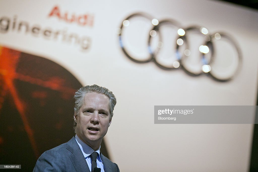 Scott Keogh, president of Audi of America Inc., speaks during an event at the Washington Auto Show in Washington, D.C., U.S., on Thursday, Jan. 31, 2013. Robert Bosch GmbH announced today at the auto show that its clean diesel technology will be featured in four new Audi TDI models now in the U.S. market. Photographer: Andrew Harrer/Bloomberg via Getty Images