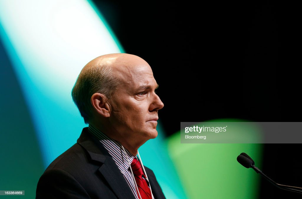 Scott Key, president and chief operating officer of IHS Cambridge Energy Research Associates Inc., speaks during the 2013 IHS CERAWeek conference in Houston, Texas, U.S., on Friday, March 8, 2013. IHS CERAWeek is a gathering of senior energy decision-makers from around the world and provides presentations from senior industry executives, government officials and thought leaders on the changing energy playing field. Photographer: Aaron M. Sprecher/Bloomberg via Getty Images