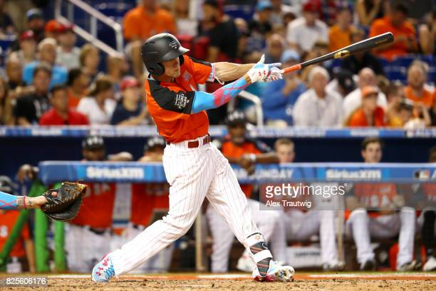 Scott Kingery of Team USA bats during the SirusXM AllStar Futures Game at Marlins Park on Sunday July 9 2017 in Miami Florida