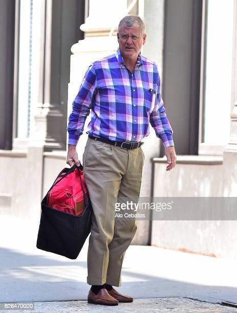Scott Kingsley Swift is seen in Tribeca on August 4 2017 in New York City