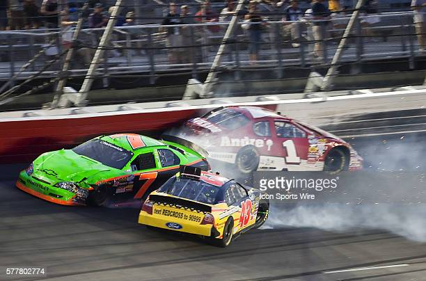 Scott Lagasse Jr wrecks into Steve Arpin at the Darlington Raceway for the Royal Purple Synthetic Oil 200 in Darlington SC