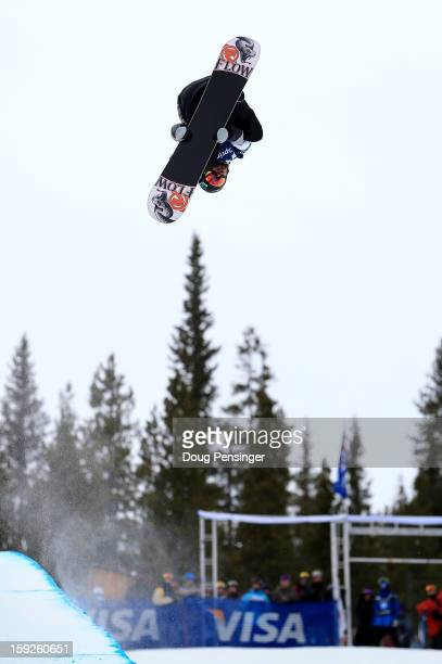 Scott Lago of the USA competes during qualification for the men's FIS Snowboard Halfpipe World Cup at the US Grand Prix on January 10 2013 in Copper...