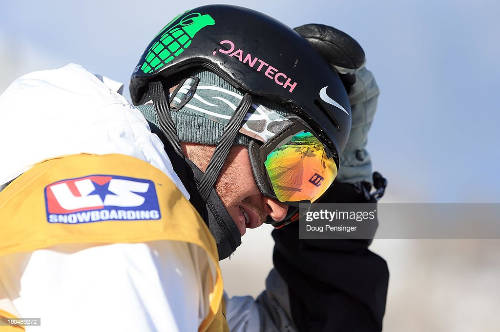 Scott Lago of the USA prepares to take a practice run as he went on to finish second in the FIS Snowboard Halfpipe World Cup at the Sprint U.S. Grand Prix at Park City Mountain on February 1, 2013 in Park City, Utah.