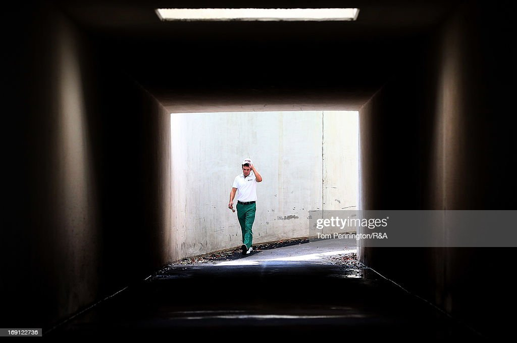 Scott Langley walks to the fifth tee box during The Open Championship International Final Qualifying America at Gleneagles Golf and Country Club on May 20, 2013 in Plano, Texas.