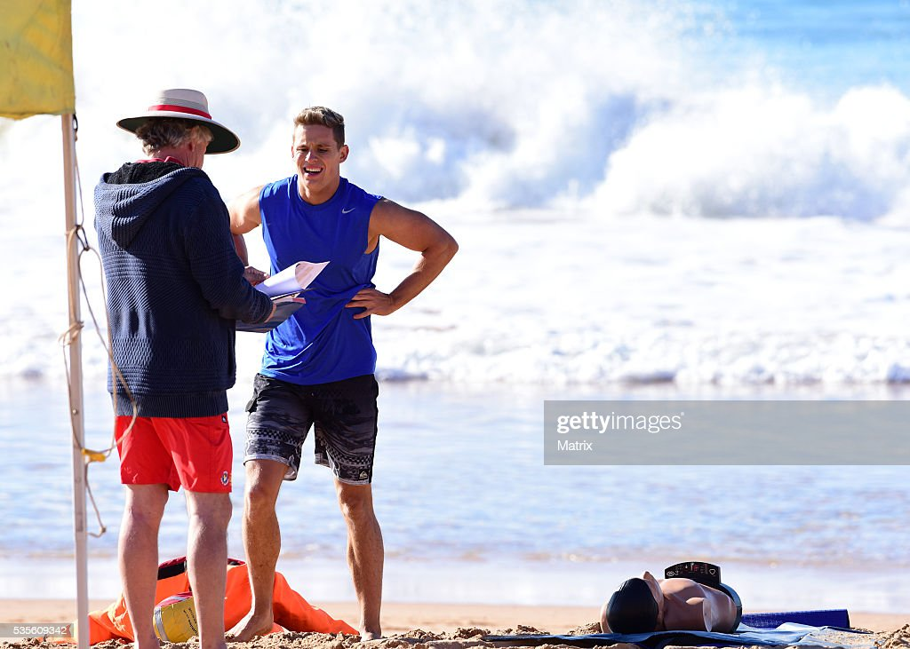 Scott Lee filming Home and Away on May 30, 2016 in Sydney, Australia.