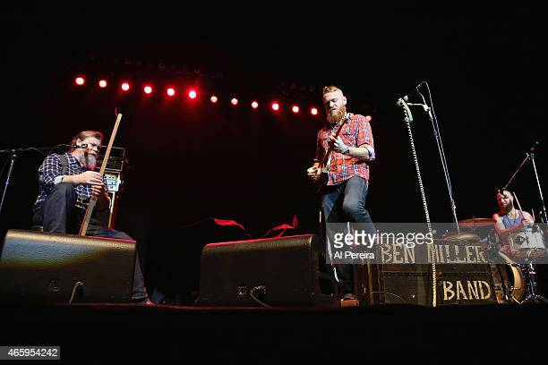 Scott Leeper Ben Miller and Doug Dicharry of the Ben Miller Band opens when ZZ Top performs at Count Basie Theater on March 11 2015 in Red Bank City