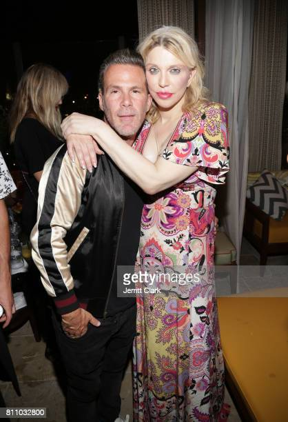Scott Lipps and Courtney Love celebrate as he Unviels His New Company Lipps At The Highlight Room At DREAM Hollywood at DREAM Hollywood on July 8...