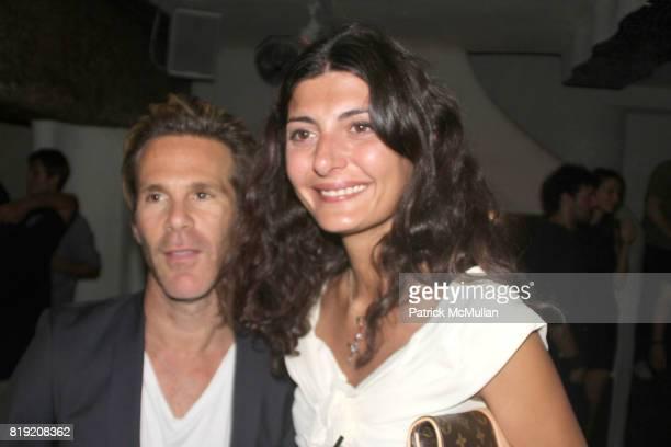 Scott Lipps and Giovanna Battaglia attend Scott Lipps Birthday Party at Kenmare Restaurant on July 29 2010 in New York City
