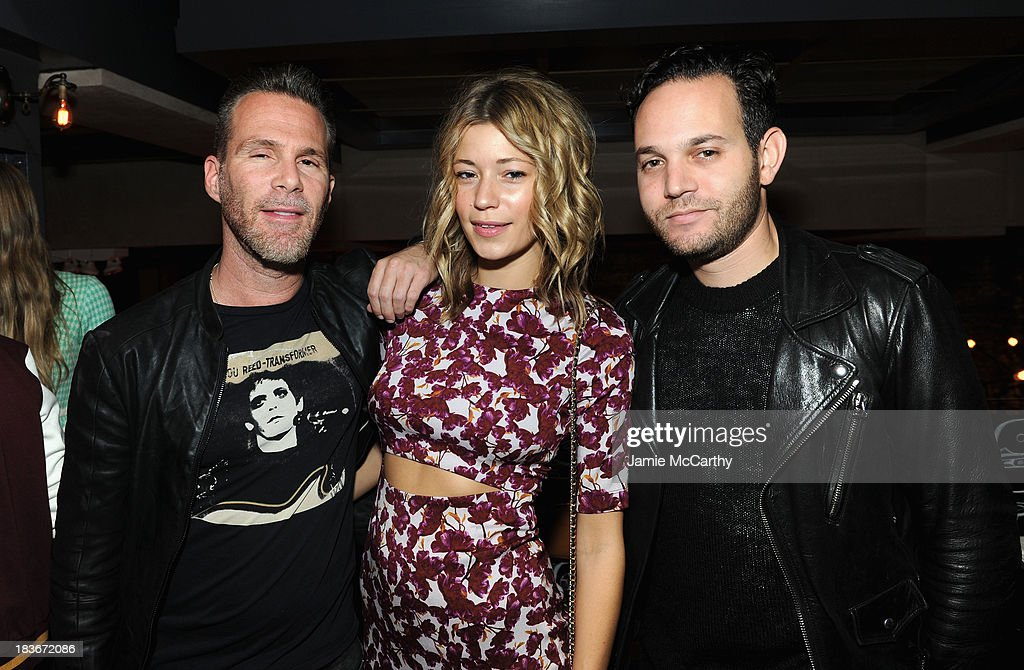 Scott Lipps, Erin Collison and Aaron Stern attend NYLON + Sanuk celebrate the October 'It Girl' issue with cover star Alexa Chung at La Cenita on October 8, 2013 in New York City.
