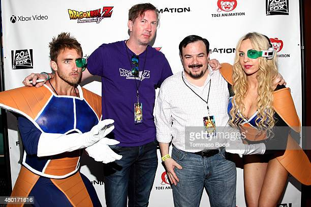 Scott Lonski and Scott Barretto attend the Dragon Ball Z Resurrection 'F' San Diego Comic Con opening night VIP party held at Whiskey Girl on July 9...